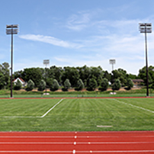 Johnson Fieldhouse outdoor track