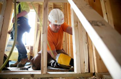 Stout's Student Construction Association building homes for Habitat for Humanity.